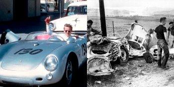 Смерть Джеймса Дина - история с фотографиями смертельной аварии