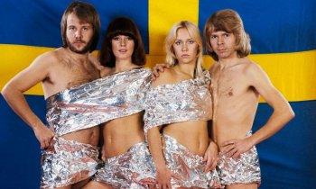 Фотографии группы АББА (ABBA) в молодости, 70-е годы