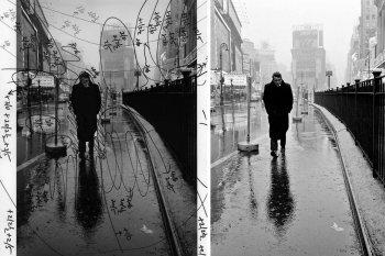 Джеймс Дин - последние фото живого актера на Манхэттене в дождливый день