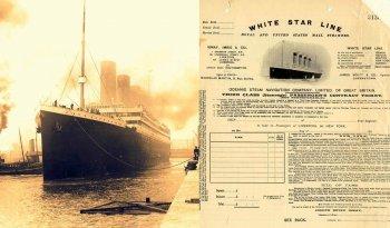 Как выглядел билет на Титаник для третьего класса