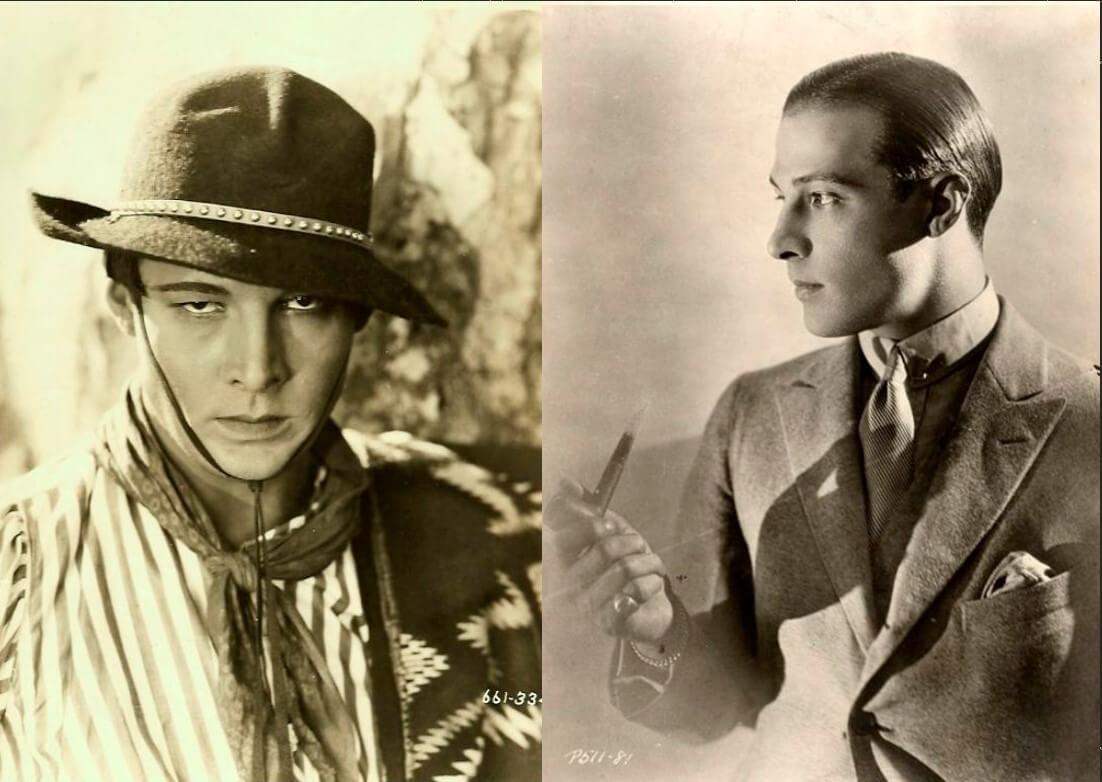 Фото Рудольфа Валентино, секс-символа немого кино 1920-х годов