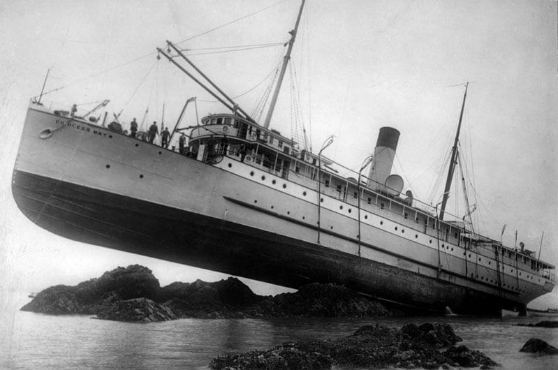 Пароход «Принцесса Мэй» - история кораблекрушения и спасения судна