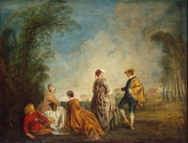 Картина Антуан Ватто (Antoine Watteau)