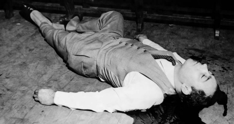 Член банды Морана, убитый на складе