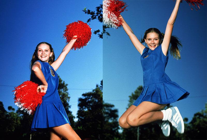 Кирстен Данст чирлидерша - фото молодой актрисы в 1995 году