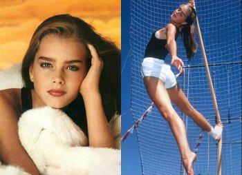Фотографии Брук Шилдс  в молодости и детстве, актриса из фильма «Голубая лагуна»