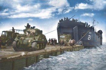 Высадка в Нормандии или «День Д» – цветные фотографии Нормандской операции в 1944 году