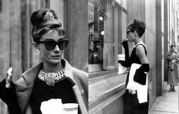 Фото Одри Хепберн на съемках фильма Завтрак у Тиффани