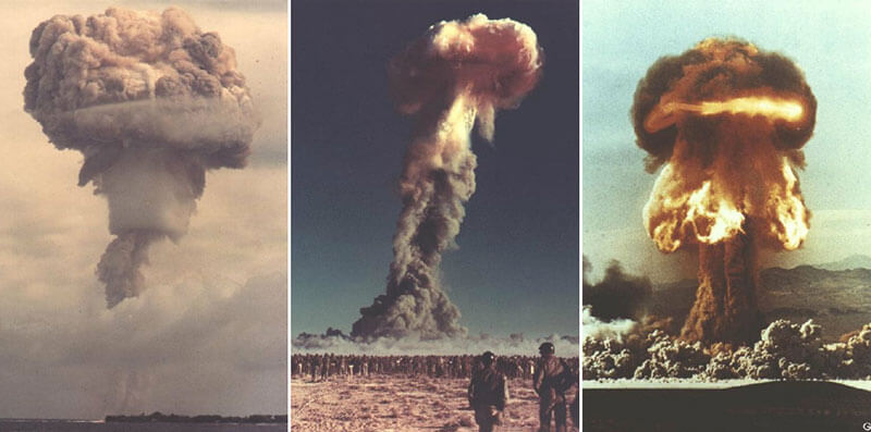 Все ядерные испытания США с 1940-х до 1960-х годов
