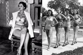 Фото Софи Лорен в молодости на конкурсе красоты Мисс Италия-1950