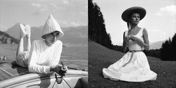 Редкие фото фото Одри Хепберн на каникулах в Швейцарии, 1954 год