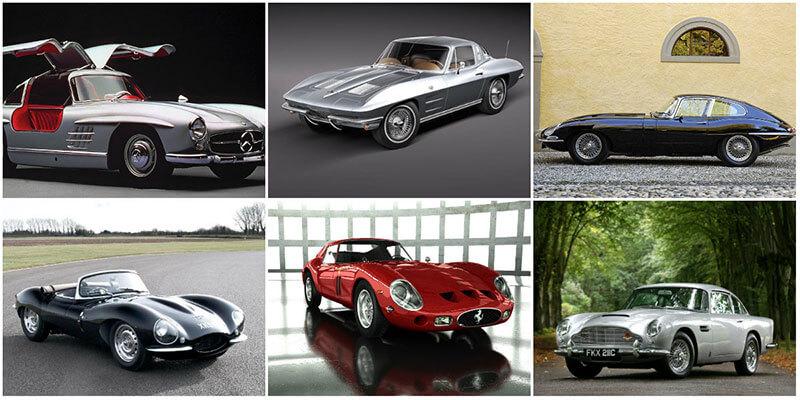 6 самых красивых классических спортивных автомобилей 20 века
