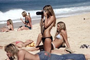 Пляжные фотографии на Гавайях 1970-х