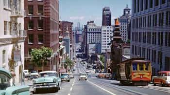 Фотографии города Сан-Франциско в 50-е годы