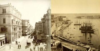 Исторические фотографии столицы Мальты города Валлетта в 19 веке