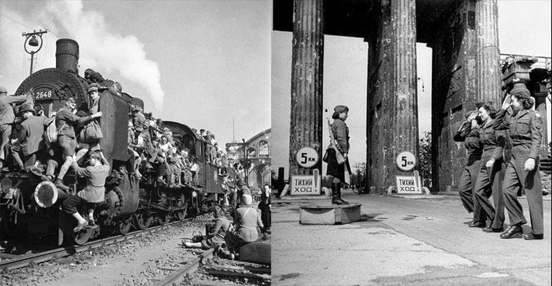 Фото разрушенного Берлина после окончании войны 1945 года