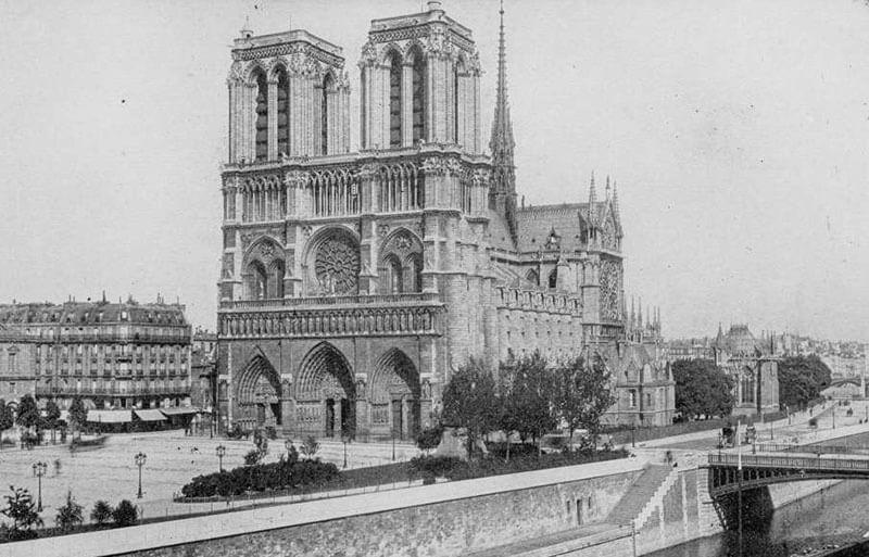 Нотр-Дам де Пари — история и фотографии Собора Парижской Богоматери в XIX веке