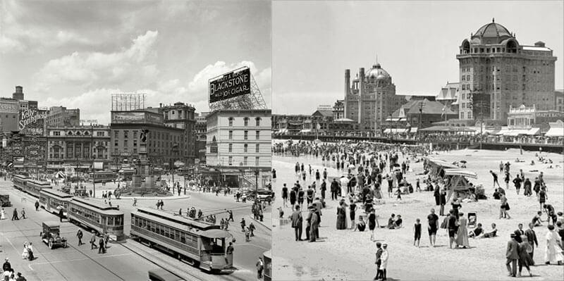 Как выглядели города США в начале 20 века, фотографии с описанием
