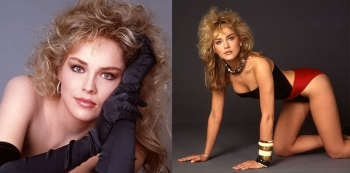Шэрон Стоун — фото в молодости актрисы и модели, 1980-е годы