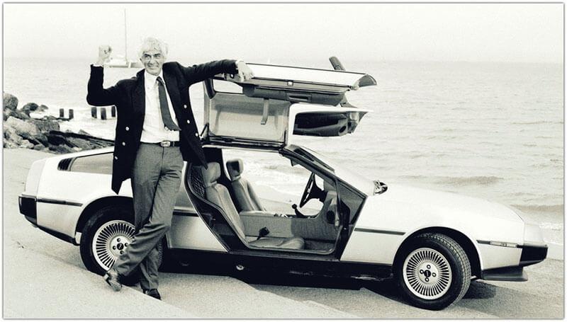 Джон Делореан с DeLorean DMC-12