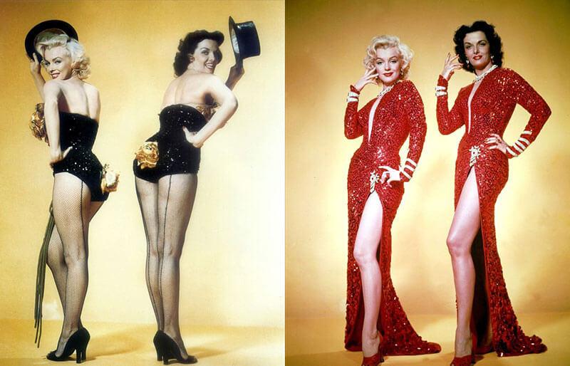 Фото Мэрилин Монро и Джейн Расселл – как снимали комедийный фильм «Джентльмены предпочитают блондинок»
