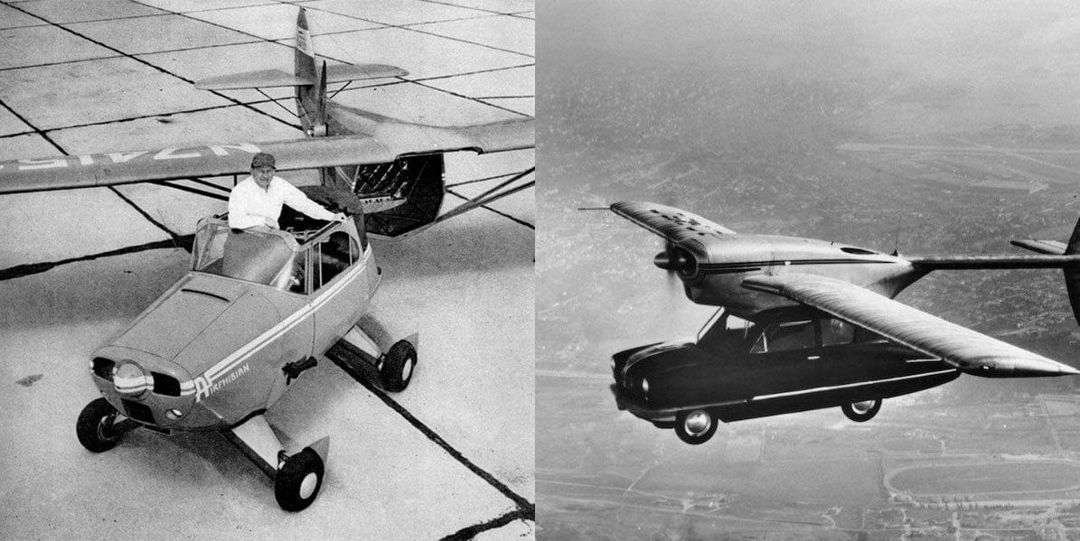 11 летающих автомобилей прошлого, которые летали по-настоящему
