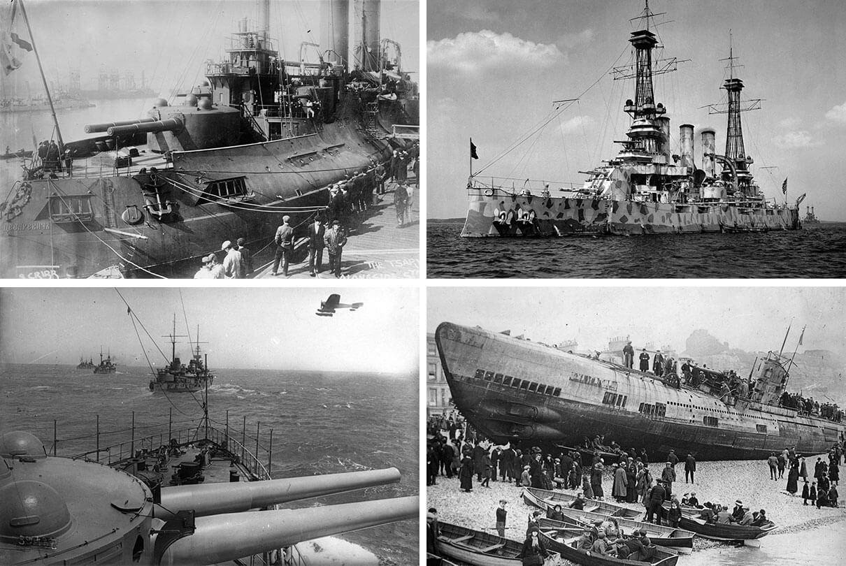 Первая мировая война на Море (подводные лодки, корабли ... )